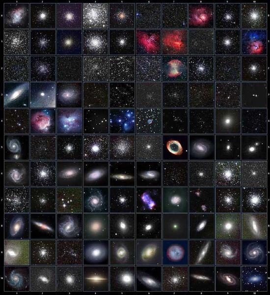 Images des objets Messier