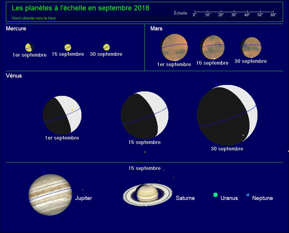 Apparence des planètes en juin 2020